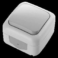 Выключатель влагозащитный VIKO Palmiye серый