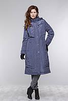 Женское пальто на тонком синтепоне чуть ниже колена