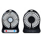 Мини вентилятор mini fan с аккумулятором (Black), фото 5