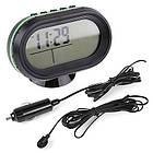Многофункциональные автомобильные электронные часы VST 7009V | термометр вольтметр | автомочасы, фото 2