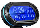 Многофункциональные автомобильные электронные часы VST 7009V | термометр вольтметр | автомочасы, фото 8
