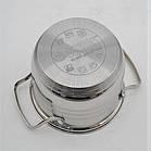 Набор кастрюль из нержавеющей стали 12 предметов Benson BN-204 (2,1 л, 2,1 л, 2,9 л, 3,9 л, 6,5 л) | сковорода, фото 7