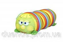 Арт-подушка игрушка антистресс, полистерольные шарики 38х18 см / tp - 12аси03ив Гусеница Полосатая зел 38*18см
