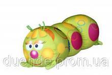 Арт-подушка игрушка антистресс, полистерольные шарики 38х18 см / tp - 12аси03ив Гусеница Кружочек38*18см