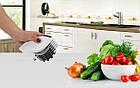 Нож для нарезки 3 в 1 Rolling Mincer и Tenderizer с чесночным прессом овощерезка, фото 9