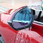 Пленка Anti-fog film 95*95 мм, анти-дождь для зеркал авто   бесцветная защитная плёнка от воды бликов и грязи, фото 3
