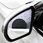 Пленка Anti-fog film 95*95 мм, анти-дождь для зеркал авто   бесцветная защитная плёнка от воды бликов и грязи, фото 5