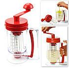 Универсальный ручной миксер для теста с диспенсером Pancake Machine | дозатор для выпечки , фото 7