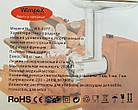 Электромясорубка WimpeX WX-3077 2000W | мясорубка с насадкой кеббе для колбасок, фото 2