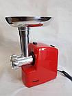 Электромясорубка WimpeX WX-3077 2000W | мясорубка с насадкой кеббе для колбасок, фото 5