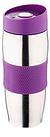 Термокружка металлическая с поилкой BN-40 фиолетовая (380 мл)   термостакан из нержавеющей стали   термочашка, фото 4