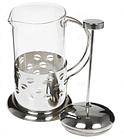 Френч-пресс для заваривания Benson BN-171 (600 мл) нержавеющая сталь + стекло   заварник   заварочный чайник, фото 4