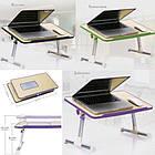 Столик подставка для ноутбука   складной стол Multifunction Laptop Desk ФИОЛЕТОВЫЙ, фото 10