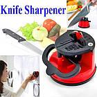 Точилка для кухонных ножей Knife Sharpener H0180 | ножеточка на присоске, фото 7