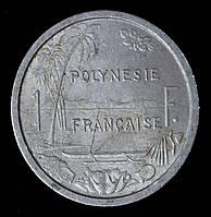Монета Французской Полинезии 1 франк 1975 г.