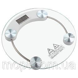 Весы круглые Стеклянные электронные напольные ACS 2003A до 180кг (0,1кг)