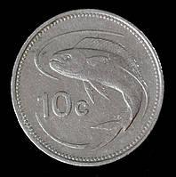 Монета Мальты 10 центов 1986 г.
