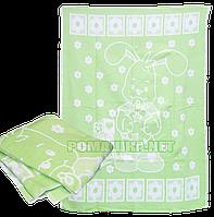 Детский вязанный хлопковый плед одеялко с начосом, 100% хлопок, 100х140 см, ТМ Ромашка, Украина