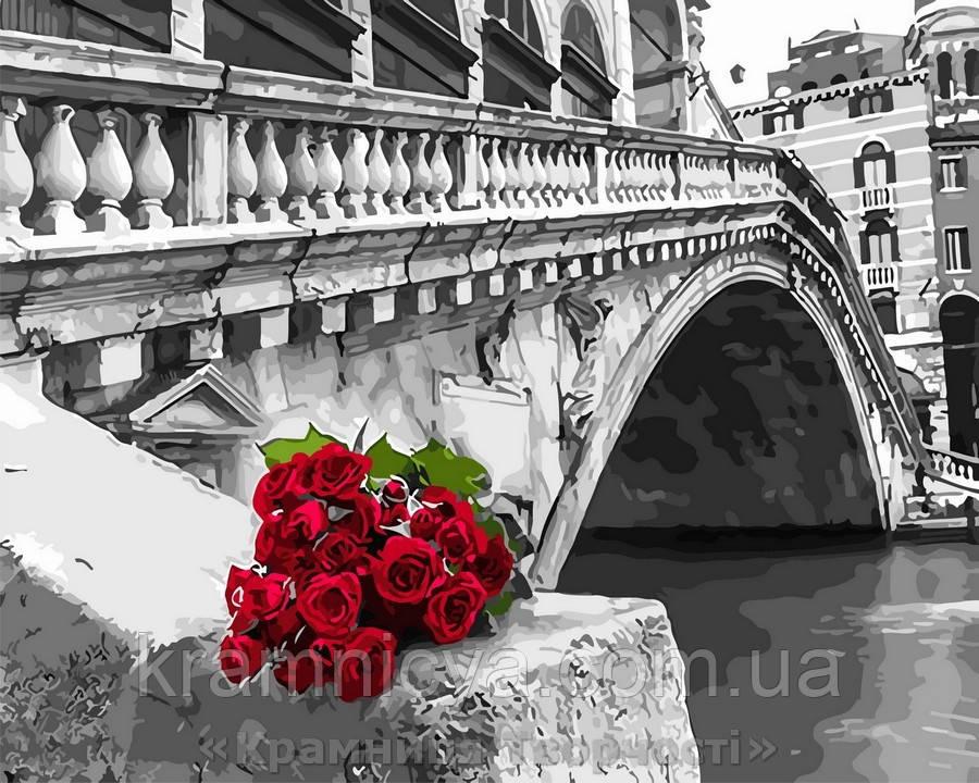 Картина по номерам 40x50 Розы у моста Риальто, Rainbow Art (GX30505)