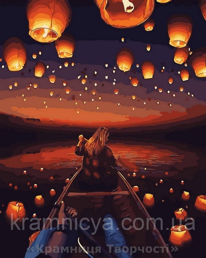 Картина по номерам 40x50 Небо в фонарях, Rainbow Art (GX30566)