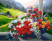Алмазная картина-раскраска 40х50 Горный букет, Rainbow Art (GZS1016)