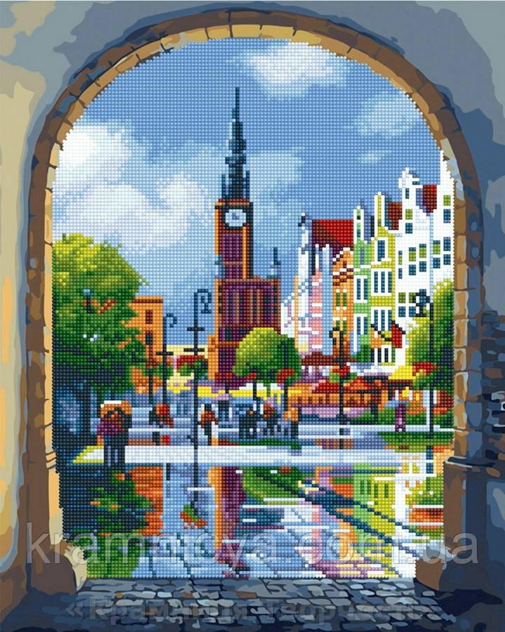 Алмазная картина-раскраска 40х50 Старый Амстердам, Rainbow Art (GZS1028)