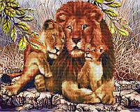 Алмазная картина-раскраска 40х50 Король саванны, Rainbow Art (GZS1031), фото 1