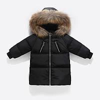 Куртка-пуховик детская, черный Berni