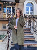 Кардиган женский стильный крупная вязка разные цвета Pvv174