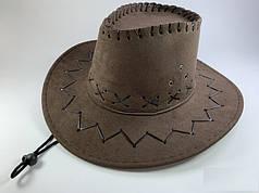 Шляпа Ковбойская темно-коричневая, детская