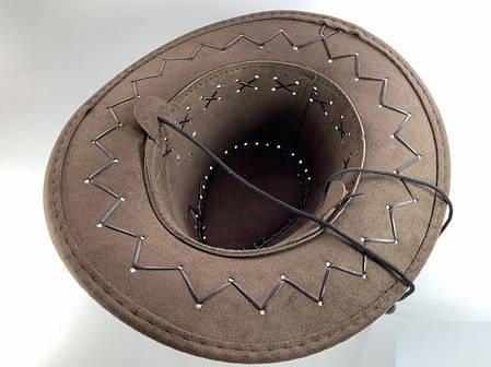 Шляпа Ковбойская темно-коричневая, детская, фото 2
