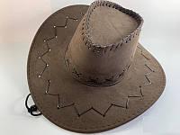 Шляпа Ковбой коричневая замш, датская