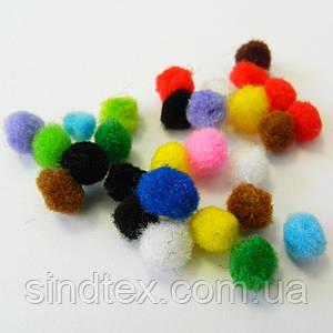 (уп 10 шт.) 1см Помпончики (помпоны) мягкие шарики для рукоделия, поделок и декора