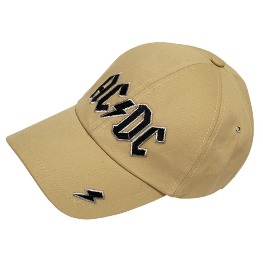 Бейсболка AC/DC (лого) пісочна