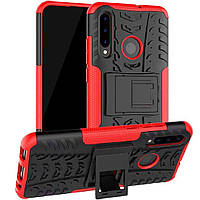 Чехол Armor для Huawei P30 Lite противоударный бампер красный, фото 1