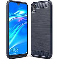 Чехол Carbon для Huawei Y5 2019 противоударный бампер синий