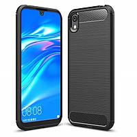 Чехол Carbon для Huawei Y5 2019 противоударный бампер черный