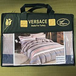 Комплект постельного белья евро фирмы Versace Koloco 731-53