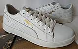 Puma classic ! Стильные кроссовки кеды женские из красной натуральной кожи в стиле пума !, фото 9