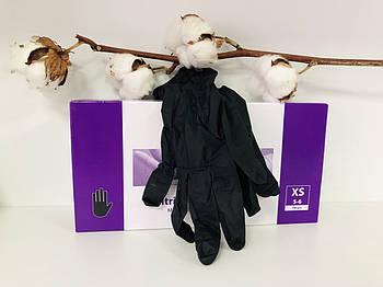 Перчатки нитриловые Abena черные р.XS 50 пар