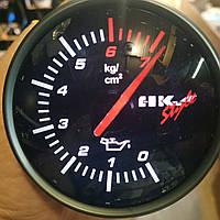 602704  LED Давление масла на ножке стрелочный диам.60мм.черный в корпусе