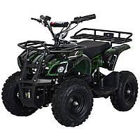 Квадроцикл с металлическим корпусом Profi HB-EATV 800N-10 MP3-V2 черно-зеленый. USB. Разные цвета.