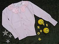 Красивая подростковая розовая кофта с атласным воротом, р. 120-160, фото 1