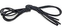 Шнурки круглые Темно серый резиновые 100см, фото 1