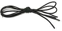 Шнурки круглые Темный хаки резиновые 120см, фото 1