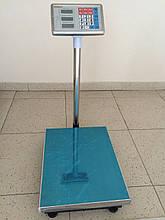 Ваги торгові електронні (до 150 кг) з платформою і лічильником ціни на трубі (на стійці) DJV /34