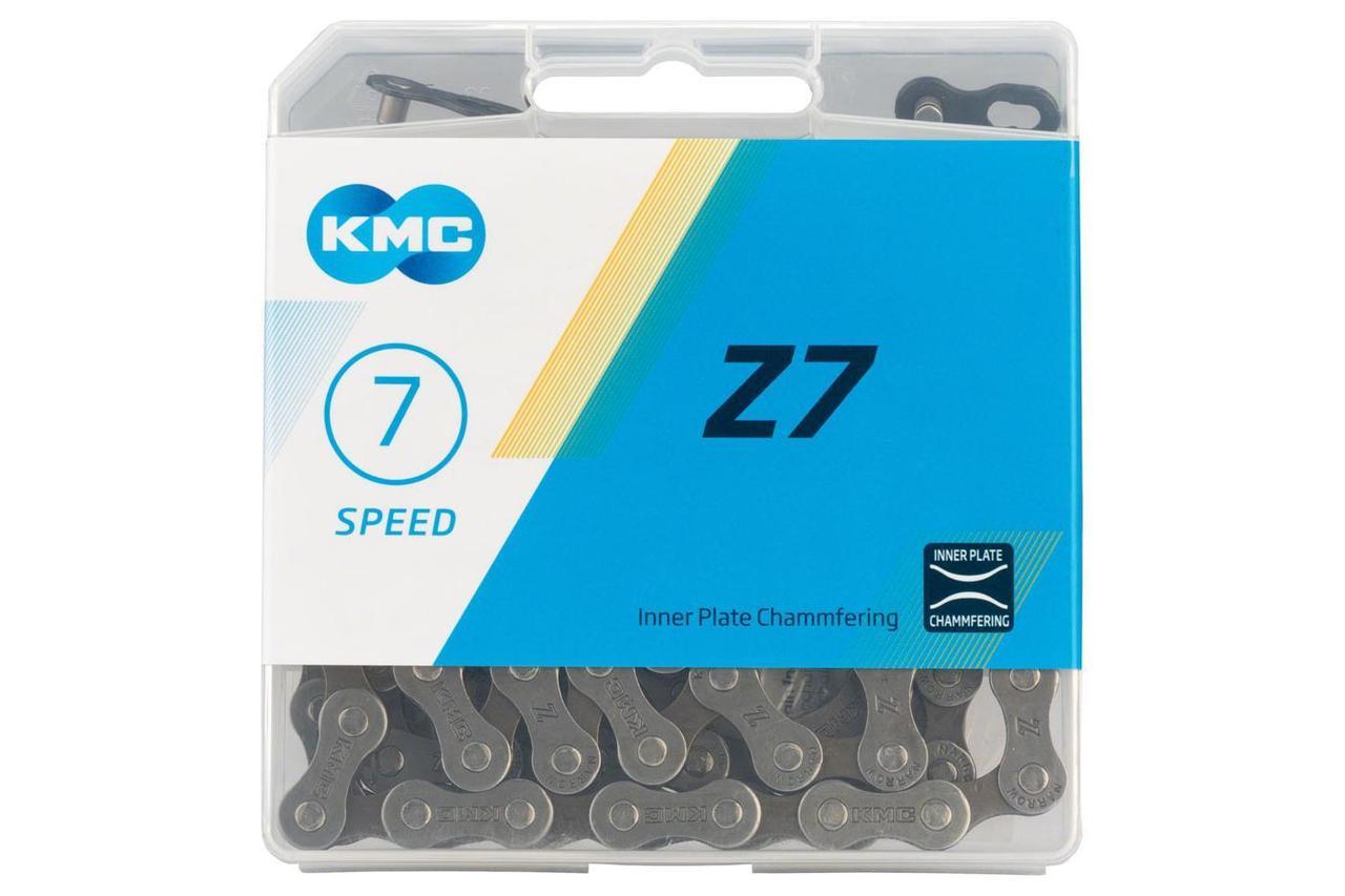 Велосипедная цепь KMC Z7 с замком, 6/7 скоростей