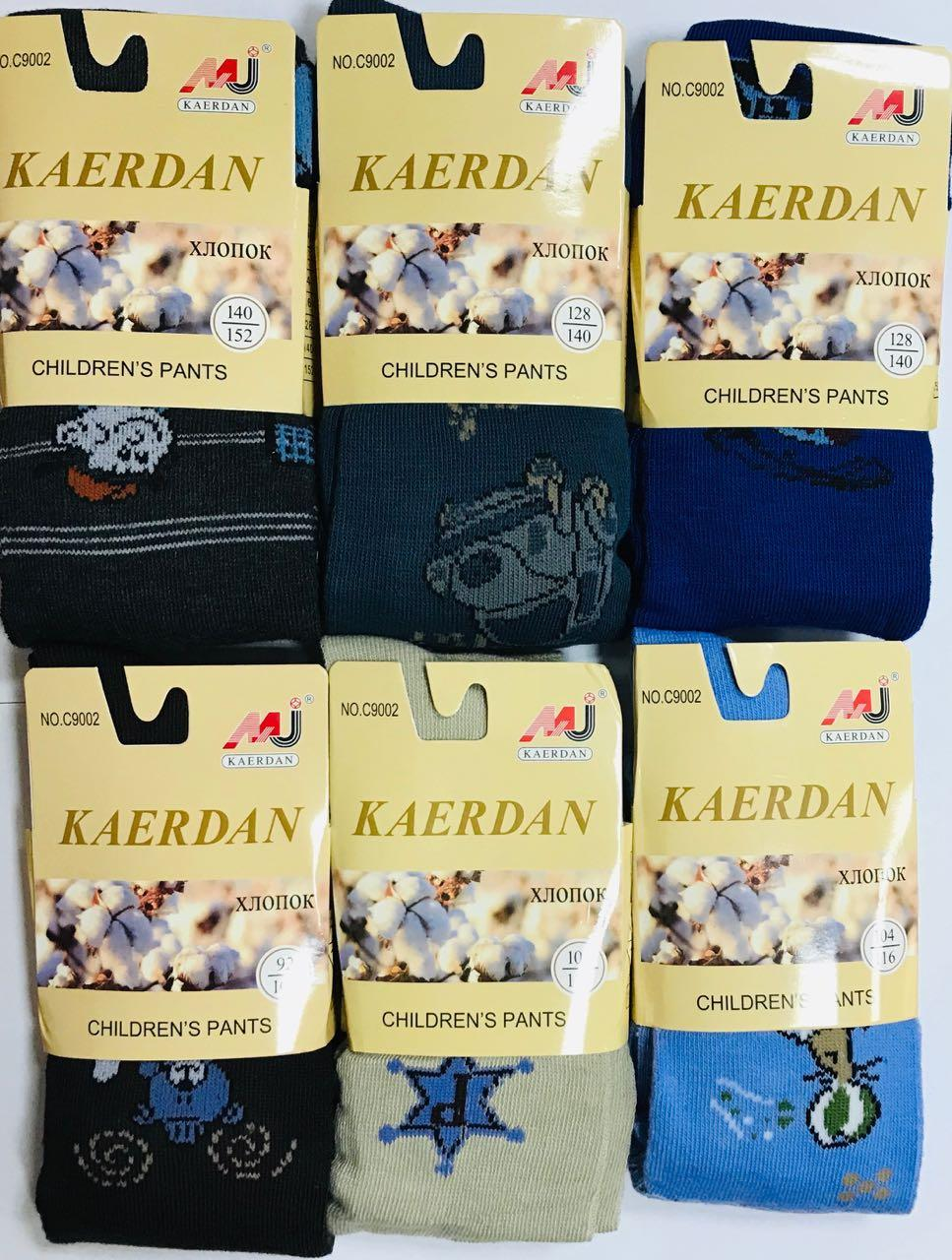 Колготки детские демисезонные хлопок KAERDAN ассорти размеры 92-164 C-9002