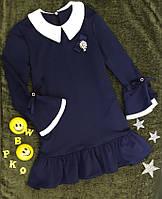 Платье школьное, р. 134-158, темно синий, фото 1