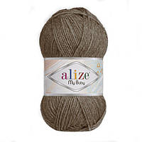 Пряжа My baby Alize, 239, коричневый меланж